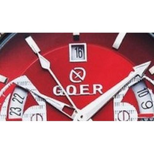 Goer klocka, automatiskt urverk, datum, subsekund, Metallic Red urtavla (Herrklockor) från klockor4you.se