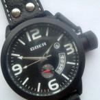 Goer klocka, automatiskt urverk, datum, subsekund, svart urtavla