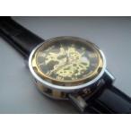 Winner klocka, automatiskt urverk, skelettur, romerska siffror, svart urtavla (Herrklockor) från klockor4you.se