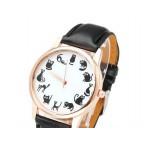 Armbandsur med 12 svarta katter, en varje timme, färg på boett Rose Gold (Djurmotiv) från klockor4you.se