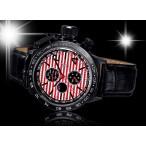 Königswerk, day-date, dag-natt, röd-vit urtavla, svart läderarmband (Herrklockor) från klockor4you.se